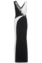 Quiz Black Contrast Diamante Trim Maxi Dress