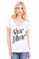Local Celebrity Shoe Whore Jovi Tee in White