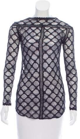 Isabel Marant Long Sleeve Lace Top