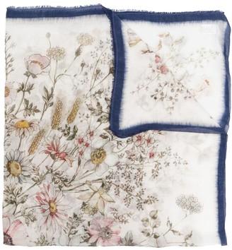 Faliero Sarti Floral Print Cashmere-Blend Scarf