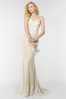 Alyce Paris - 6505 Dainty Lace Adorned Evening Gown