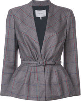Carolina Herrera Plaid peplum blazer - women - Silk/Virgin Wool - 4
