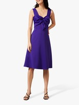 Phase Eight Jadine Bow Midi Dress, Electric Blue