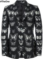 Alexander McQueen butterfly print blazer - men - Cotton/Polyester/Viscose/Wool - 50