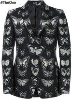 Alexander McQueen butterfly print blazer - men - Wool/Cotton/Polyester/Viscose - 50