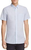 Todd Snyder Stripe Linen Regular Fit Button-Down Shirt