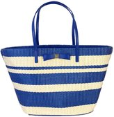 Kate Spade new york 'Wicklow Court' Anabette Striped Straw Tote, Pale