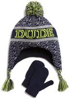 Capelli Infant Boys' Dude Hat & Mittens Set - Sizes 12-24 Months