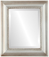 """The Oval And Round Mirror Store Chicago Framed Rectangle Mirror in Silver Shade, 29""""x41"""""""