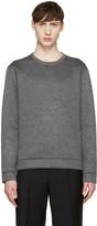 Valentino Grey Neoprene Single Stud Pullover