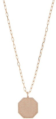 Shay Diamond & 18kt Rose-gold Necklace - Crystal