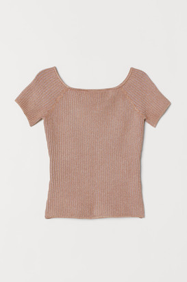 H&M Ribbed off-the-shoulder top