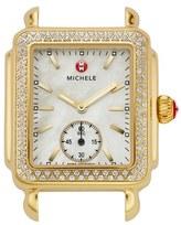 Michele Women's Deco 16 Diamond Gold Plated Watch Head, 29Mm X 31Mm