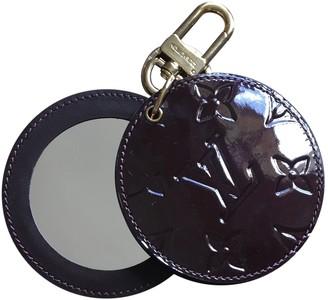 Louis Vuitton Monogram Purple Leather Bag charms