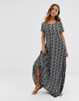 Raga Wild Love floral print maxi dress-Black