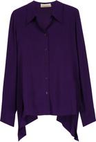 Stella McCartney Jones draped silk crepe de chine blouse