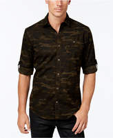 INC International Concepts Men's Duncan Poplin Camo Long-Sleeve Shirt, Created for Macy's