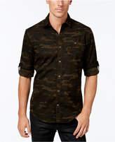 INC International Concepts Men's Duncan Poplin Camo Long-Sleeve Shirt, Only at Macy's