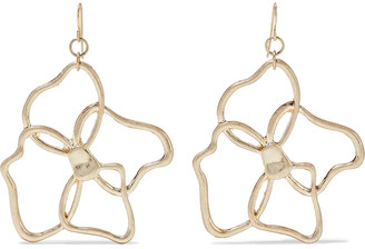 Kenneth Jay Lane 18-karat Gold-plated Earrings