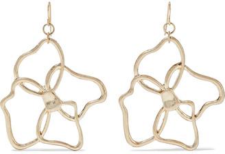 Kenneth Jay Lane 18-karat Gold-plated Earrings