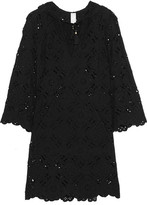 Zimmermann Good Times Hooded Broderie Anglaise Cotton Dress - Black