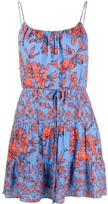 Alice + Olivia Cheyla strappy floral-print dress