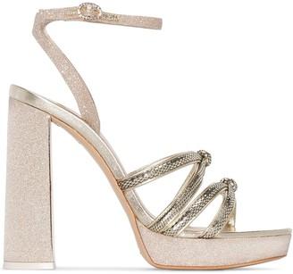 Sophia Webster metallic Freya 135 platform sandals