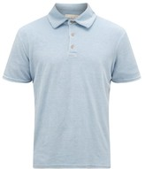 Altea Cotton-blend Terry Polo Shirt - Mens - Light Blue