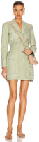 Jonathan Simkhai Ashton Parachute Blazer Dress in Fern | FWRD