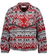 IRO Goldy Fringed Intarsia-Knit Jacket