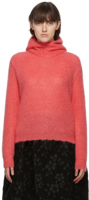 Comme des Garcons Pink Mohair Hoodie