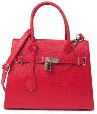 Giorgio Costa Leather Top Handle Satchel