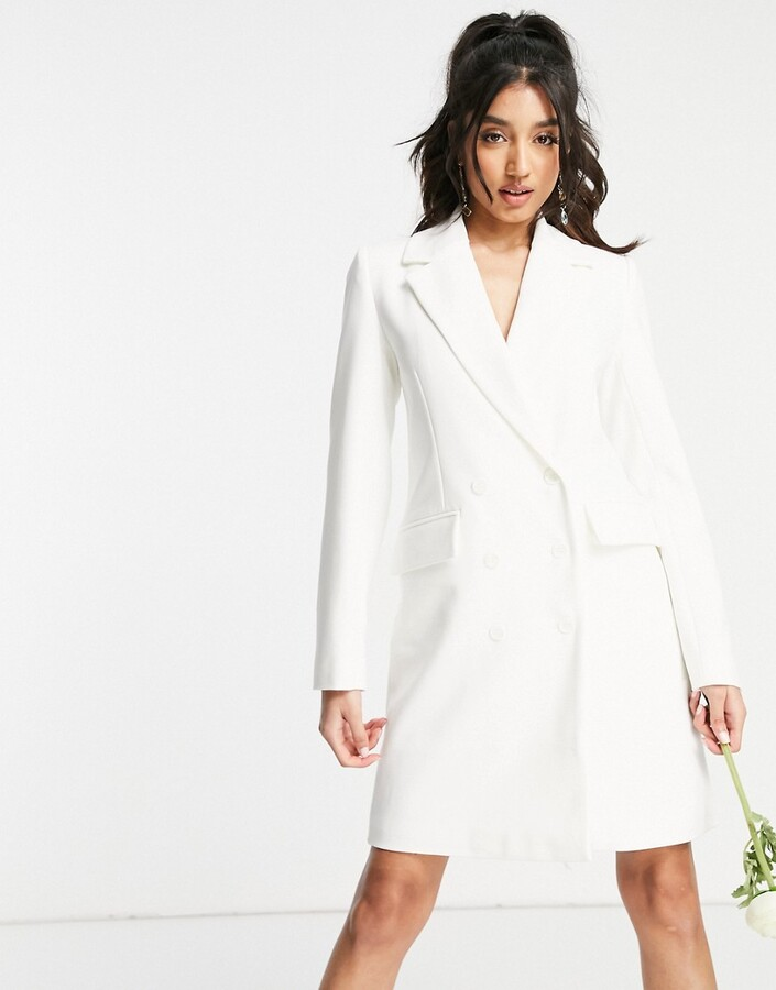 Thumbnail for your product : Y.A.S Exclusive Bridal blazer dress in white