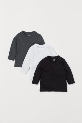H&M 3-pack Jersey Shirts - Gray