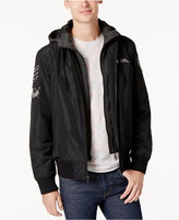 American Rag Men's Hooded Patched Bomber Jacket, Created for Macy's