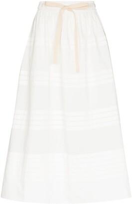 Lee Mathews Robin pleat-detailing midi skirt