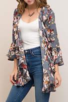 Entro Floral Ruffle Kimono
