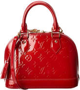 Louis Vuitton Red Monogram Vernis Leather Alma Bb