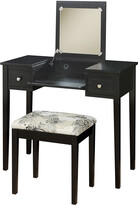 Linon 2Pc Vanity & Butterfly Bench Set