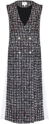 Jovonna London Ifan Jacket Dress Sleeveless Tweed Pink - S/M