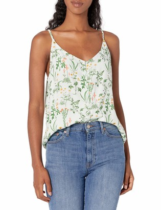 Lucky Brand Women's Sleeveless Button Front Cami Top