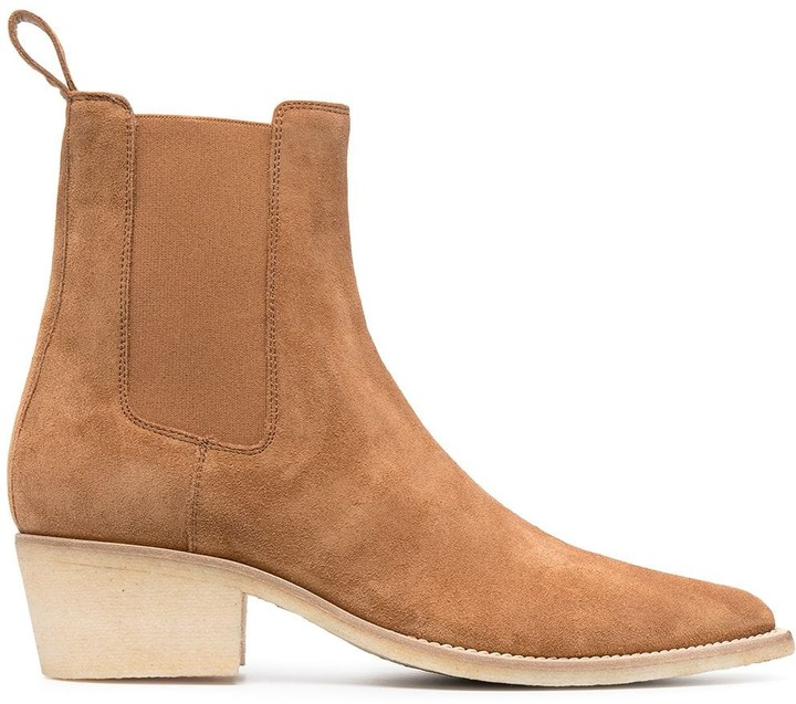 Amiri Suede Pointed-Toe Boots