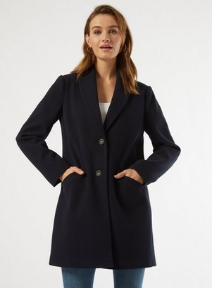 Dorothy Perkins Womens Navy Shawl Collar Coat