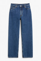 Thumbnail for your product : Monki Taiki straight leg blue jeans