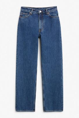 Monki Taiki straight leg blue jeans