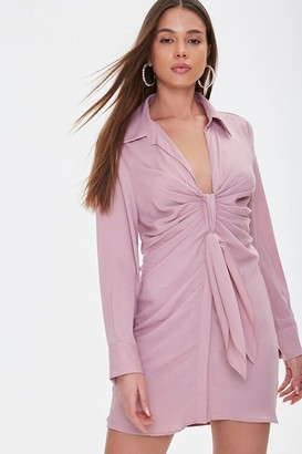 Forever 21 Self-Tie Sash Shirt Dress
