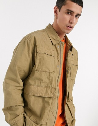 Weekday Nate jacket in camel