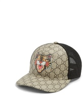 Gucci Angry Cat-print Gg Supreme Cap