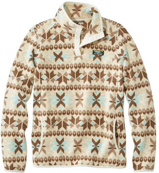 L.L. Bean Women's Womenas L.L.Bean Sweater Fleece Pullover, Print
