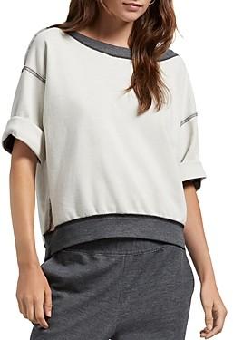 Michael Stars Roxy Reversible Drop-Shoulder Sweatshirt